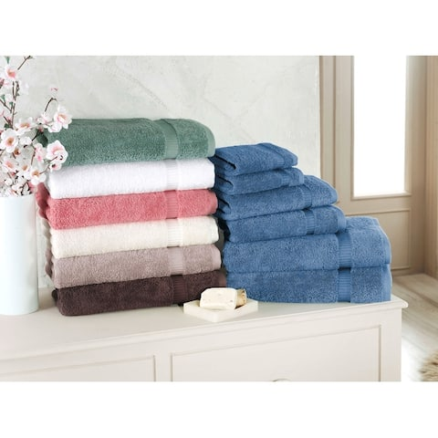 Luxury Turkish Villa Collection Bathroom Towel - Quick Dry Bath Towel Set (Set of 6)
