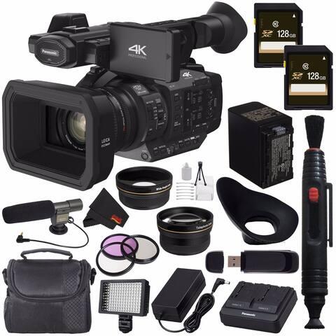 Panasonic HC-X1 4K Ultra HD Professional Camcorder + 128GB SDXC Card + Professional 160 LED Video Light Studio Series Bundle