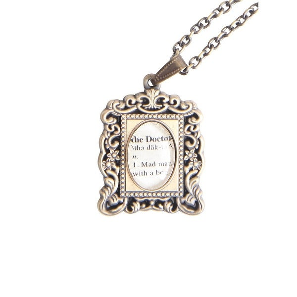 Doctor Who Antique Frame Necklace - Silver