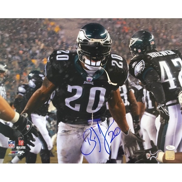 timeless design 021bc 260ff Shop Brian Dawkins Signed 16x20 Philadelphia Eagles Black ...