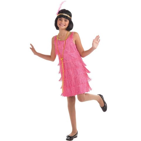 Forum Novelties Little Miss Flapper Child Costume (M) - Pink - Medium