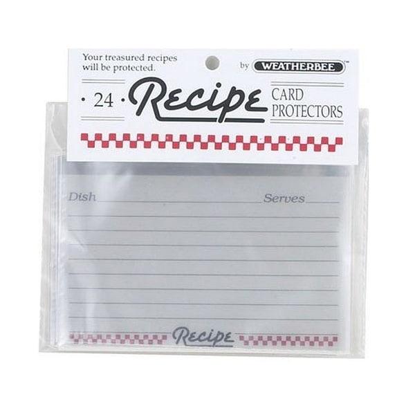"Weatherbee 074 Recipe Card Protectors, 3"" x 5"", Pk/24"