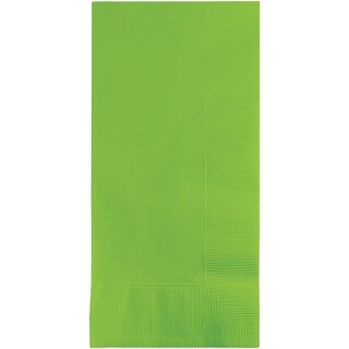 Club Pack of 600 Fresh Lime Green Premium 2-Ply Disposable Dinner Napkins 8""