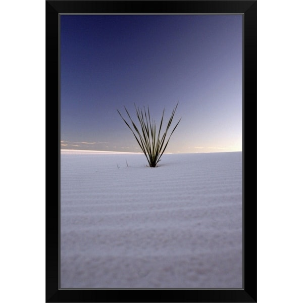 """Sunset at White Sands, New Mexico"" Black Framed Print"