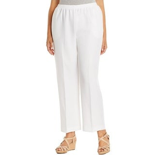 Alfred Dunner Womens Plus Casual Pants Stretch Pull On