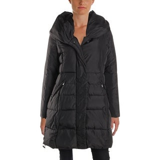 French Connection Womens Petites Puffer Coat Winter Water Repellent