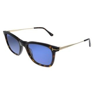 Link to Tom Ford Arnaud-02 TF 625 52V Unisex Havana Frame Blue Lens Sunglasses Similar Items in Women's Sunglasses