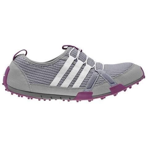Adidas Women's Climacool Ballerina Light Onix/Running White/Tribe Purple Golf Shoes Q46957