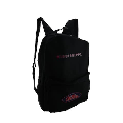 NCAA Ole Miss University of Mississippi Canvas Backpack - 18 X 12 X 5.5 inches