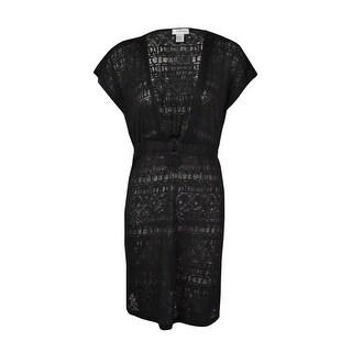J Valdi Women's 'O'-Ring Burnout Tunic Swimsuit Cover