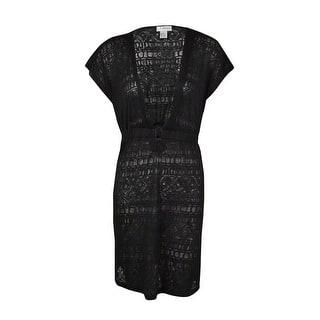 607d047cfd J Valdi Women s  O -Ring Burnout Tunic Swimsuit Cover - Black