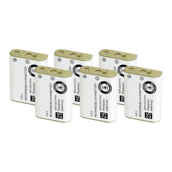 Replacement Battery For VTech i5858 / i5871 Cordless Phones - 102 (800mAh, 3.6V, NiMH) - 6 Pack