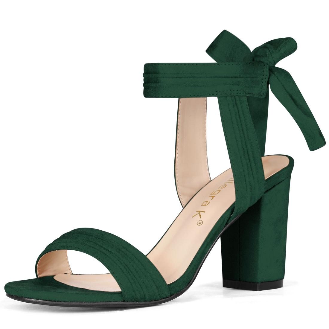 Green Chunky Heels