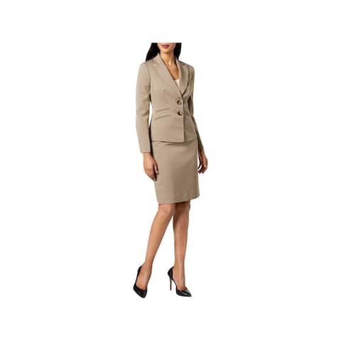 Le Suit Womens Skirt Outfit Textured 2 PC