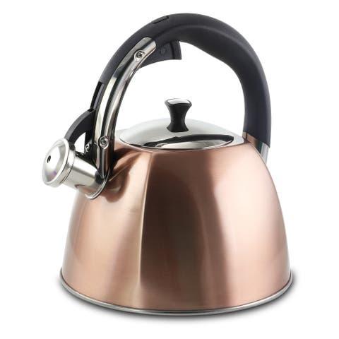 Mr Coffee Belgrove 2.5 Quart Whistling Tea Kettle in Copper