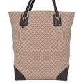 Gucci 353702 Beige Jacquard Diamante LARGE Purse Handbag Tote - Thumbnail 0