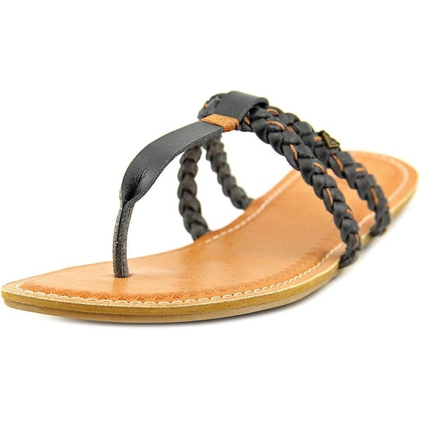 Roxy Giza Women Open Toe Synthetic Black Thong Sandal