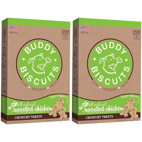 Cloud Star Itty Bitty Buddy Biscuits Roasted Chicken 8 oz Dog Treats 2 Pack