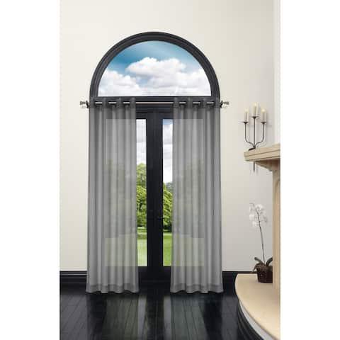 "Curtain Panel Bella Batiste 86L Slate Grey - 86"" x 54"""