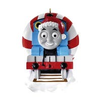 Carlton Cards Heirloom Thomas and Friends Peppermint Tunnel Christmas Ornament - BLue