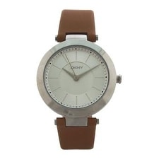 Dkny Ny2293 Stanhope Brown Leather Strap Watch Watch For Women