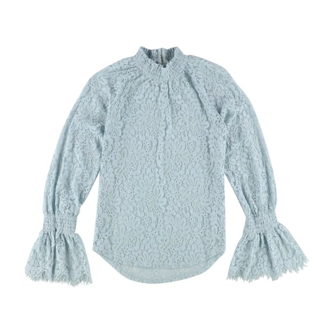 Bar Iii Womens Mock Neck Lace Pullover Blouse