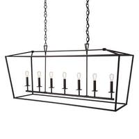 """Norwell Lighting 1083 Cage 7-Light 54"""" Wide Linear Chandelier with Steel Cage"""