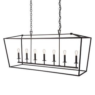 Buy norwell lighting chandeliers online at overstock our best norwell lighting 1083 cage 7 light 54 wide linear chandelier with steel cage aloadofball Images