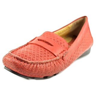Vaneli Remy Women N/S Round Toe Leather Red Loafer