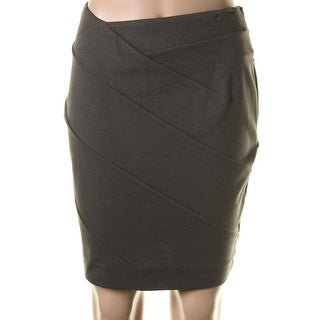Catherine Malandrino Womens Ponte Knee-Length Pencil Skirt - 4