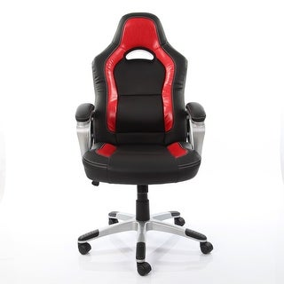 VECELO Ergonomically Adjustable PU Leather Office Desk Chair ,Gaming Armchair