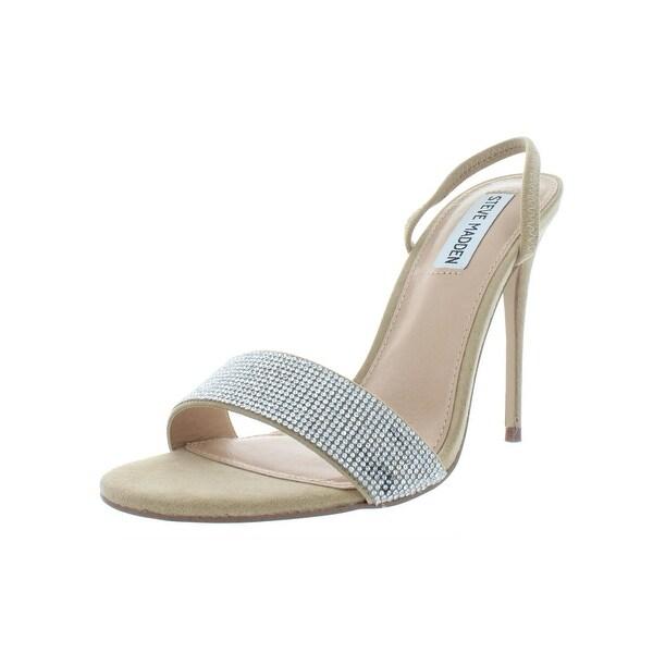 c5ea5d6855 Shop Steve Madden Womens Fierce Dress Sandals Faux Suede Rhinestone ...