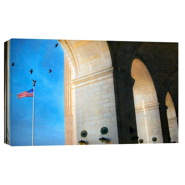 "PTM Images 9-101705 PTM Canvas Collection 8"" x 10"" - ""Morning At Union Station"" Giclee Buildings and Landmarks Art Print on"