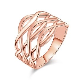Rose Gold Horizontal Infused Ring