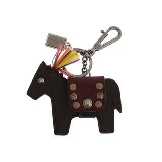 Dolce & Gabbana Dolce & Gabbana Brown Carretto Horse Leather Keychain - One size
