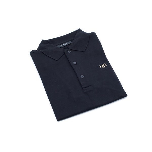b5fc6614dbb29 Shop Givenchy Men s Black Cotton Basic Polo Shirt - S - Free ...