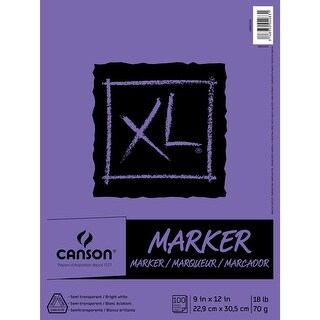 """Canson Xl Marker Paper Pad 9""""X12""""-100 Sheets"""