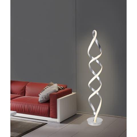 Infinito 78W Unique Modern LED Floor Lamp, Anodize Aluminum - 63.00