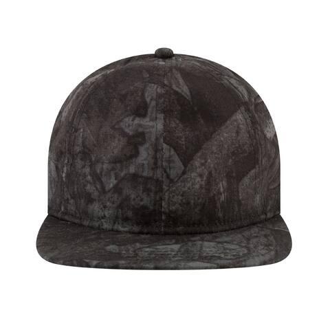 New Era Mens 9Twenty Tonal Camo Flat Brim Cap Black