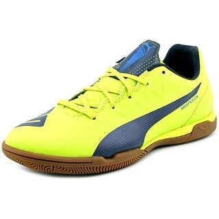 Puma evoSPEED 4.4 IT Women Round Toe Synthetic Yellow Sneakers