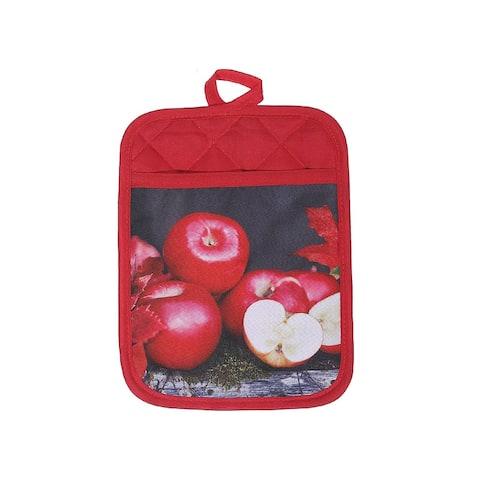 Pot Holder With Pocket (Fresh Apples) - Set of 4