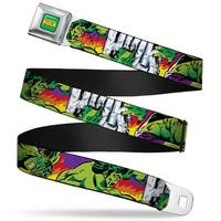 Marvel Comics The Hulk Full Color The Hulk Stomping Punching Hulk Purple Seatbelt Belt