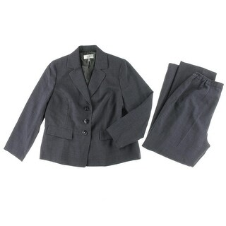 Le Suit Womens Quebec Notch Collar Long Sleeves Pant Suit - 18W
