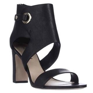 Via Spiga Adra Ankle Cuff Dress Sandals, Black