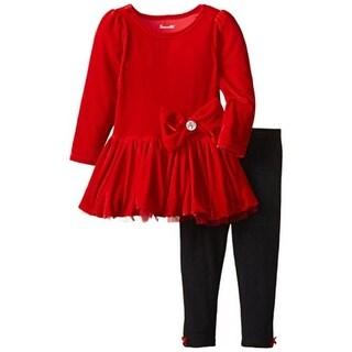 Nannette Girl Toddler Girls Velvet Pant Outfit