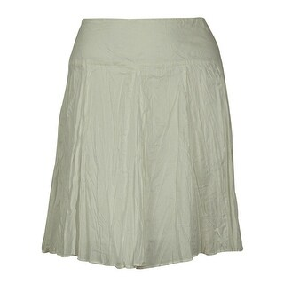 INC International Concepts Women's Cotton Mini Skirt - White