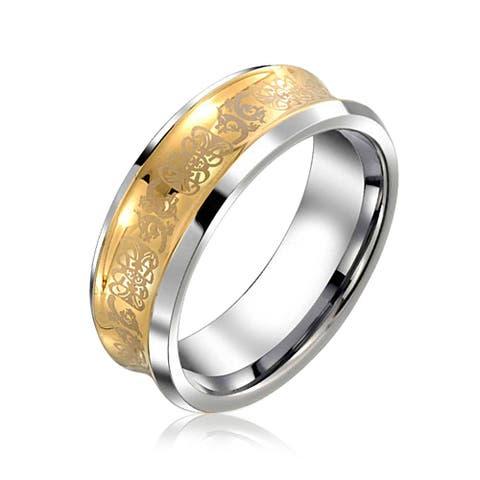 Couples Celtic Dragon Wedding Band Ring Titanium 8MM