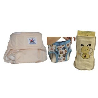 OPcloth hook and eye251 Organic Bamboo Lining One Size Diapers with