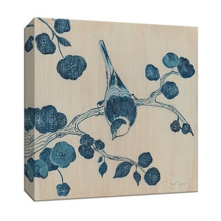 "PTM Images 9-147049  PTM Canvas Collection 12"" x 12"" - ""Bluebird I"" Giclee Birds Art Print on Canvas"