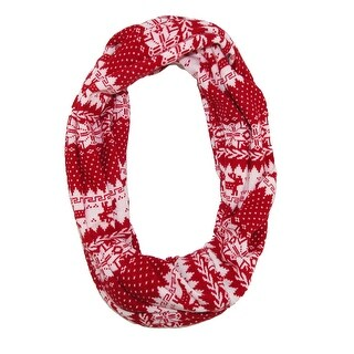 CTM® Women's Holiday Nordic Pattern Infinity Loop Scarf - One Size